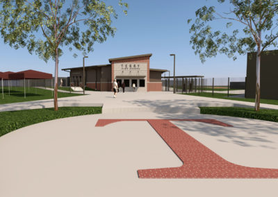TERRY HIGH SCHOOL:  ENTRY PLAZA